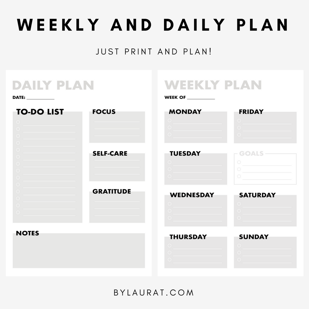AD Weekly and daily plan bundle